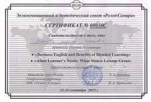 Сертификат Логачева